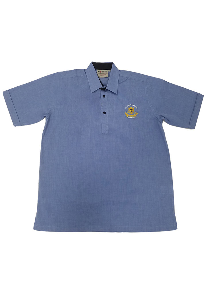St John's College Junior SS Shirt w/ Crest